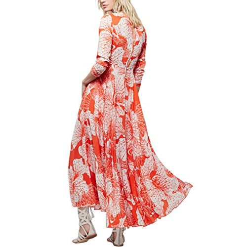 lovely CA Mode Women Luxury Flower Mid-calf Picnic Garden Party Swing Dress