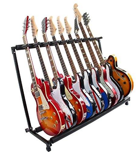 Multi X9 Guitarra Calidad Superior plegable soporte rack \ Soporte Soportes de graves Horizontal pantalla múltiples