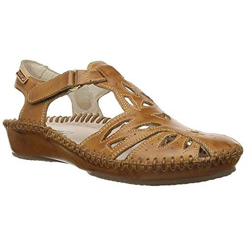 PIKOLINOS Womens Puerto Vallarta 655-8312 Brandy Leather Sandals 38 EU