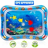 Toys : Tummy Time Water Play Mat, 7 Upgrade [2019 NEW] Inflatable Infant Baby Toys & Toddlers Fun Activity Play Center for Boy & Girl Growth Brain Development BPA-Free Baby Toys for 3-12 Months (26''x20'')