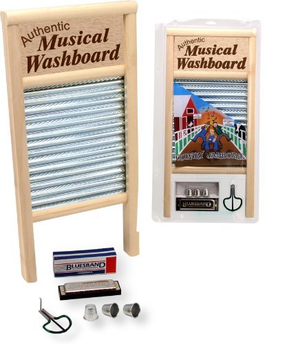 NEW AUTHENTIC WASHBOARD + HARMONICA + JAW HARP COMBO by AUTHENTIC WASHBOARD + HARMONICA + JAW HARP COMBO