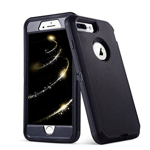iPhone 8 Plus Case,iPhone 7 Plus Case,5.5 inch Screen [VCOSI] Heavy Duty Defense Shield for iPhone 8 Plus & iPhone 7 Plus (ONLY) Shock-Resistant Dustproof Case (Black)