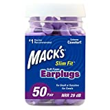 ultra soft ear plugs - Mack's Slim Fit Soft Foam Earplugs, 50 Pair - Small Ear Plugs for Sleeping, Snoring, Traveling, Concerts, Shooting Sports and Power Tools