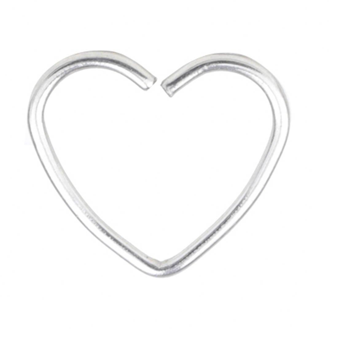 22G nose ring nose hoop Heart Shaped cartilage hoop earrings set cartilage earrings stud ear hoop