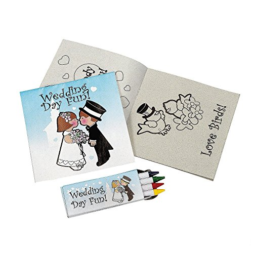 Fun Express FX IN-12/3790 Individually Packaged Children's Wedding Activity Sets (Pack of 12) by Fun Express