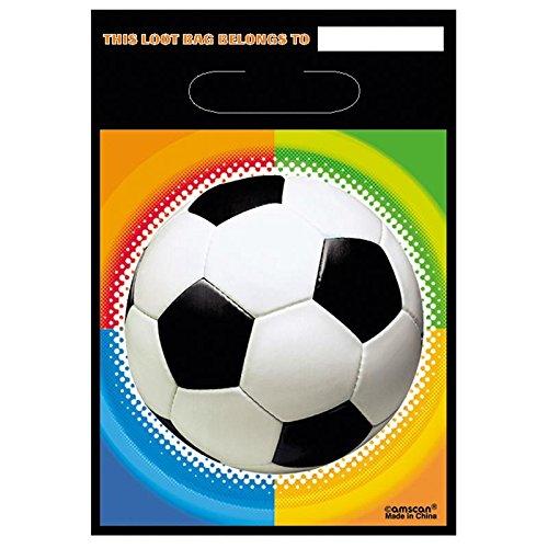 Set de 8 bolsas regalo, balón de fútbol 32 x 18 x 0,5 cm: Amazon ...