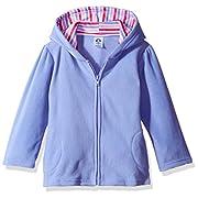Gerber Infant Girls' Hooded Micro Fleece Jacket,Purple,3-6 Months