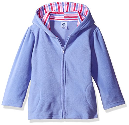 (Gerber Baby Girls' Hooded Micro Fleece Jacket, Purple, 3-6 Months)