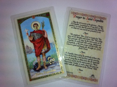 Holy Prayer Cards for the Prayer to Saint Expedite in English