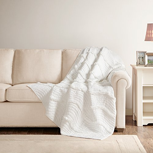 Juliette Oversized Quilted Throw White 60x70