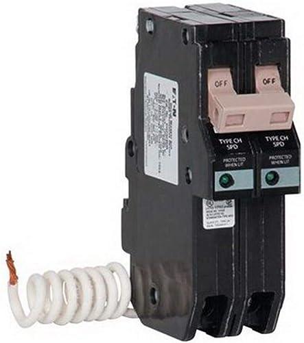 Crouse-Hinds CH230SUR Type CH Surge Protection Device, 120 240 VAC, 30 A, 2 Poles, 10 kA SCCR