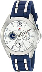 Tommy Hilfiger Women's Quartz Stainless Steel and Silicone Casual Watch, Color:Blue (Model: 1781662)