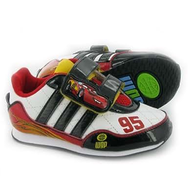 Adidas DISNEY CARS 2 I BASKET Blanco Negro Rojo para niño , Zapatillas Adidas T:20