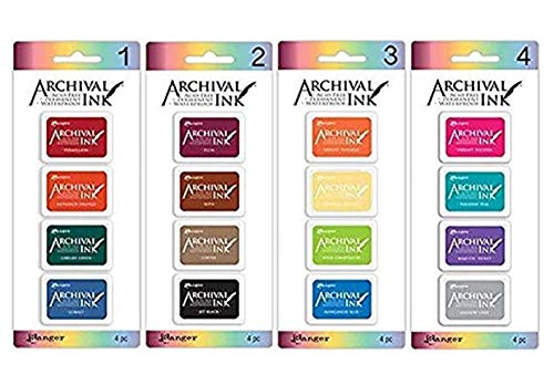 Ranger - Archival Mini Ink Pads Kits 1-4, Bundle of Kit 1, 2, 3, and 4 - $32.92