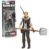 "McFarlane Toys Year 2013 ""The Walking Dead"" AMC TV Series 5 Inch Tall Action Figure - ANDREA with Pitchfork, Rifle, Removable Vest and Gun"