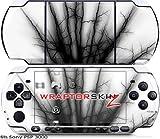 Sony PSP 3000 Decal Style Skin - Lightning Black (OEM Packaging)