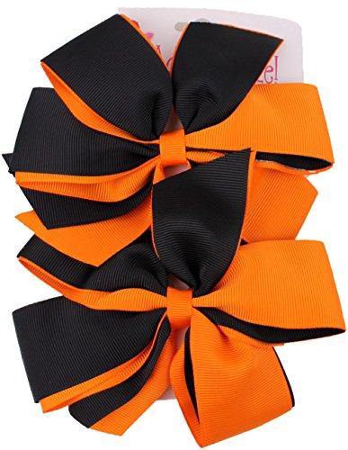 Halloween Large Pinwheel Hair Bow - Girl Posh Spice Costume