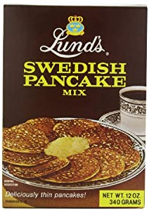 Lunds Swedish Pancake Mix, 12-Ounce (Pack of 6)