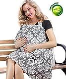 BONTIME Nursing Cover - Premium Organic Bamboo Cotton Breastfeeding Cover,Multi Used for Nursing Blanket Full Coverage to Protect Your Privacy,Secret Garden