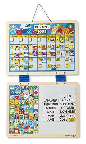 Weekly Calendar Magnet : Melissa doug monthly magnetic calendar with magnets
