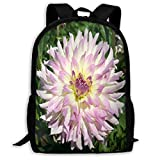GHYGTY Travel Laptop Backpack for Men/Women,Uphome Dahlia Flower Unisex Portable Waterproof Durable Business Backpack