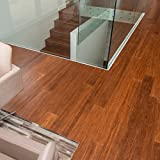 "Cali Bamboo - Solid Click Bamboo Flooring, Medium Java Brown - Sample Size 8"" L x 3 3/4"" W x 7/16"" H"