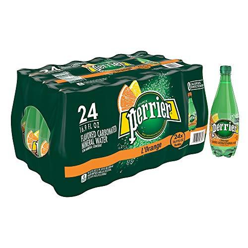 Perrier L'Orange Flavored Carbonated Mineral Water (Lemon Orange Flavor), 16.9 fl oz. Plastic Bottles (24 Count)