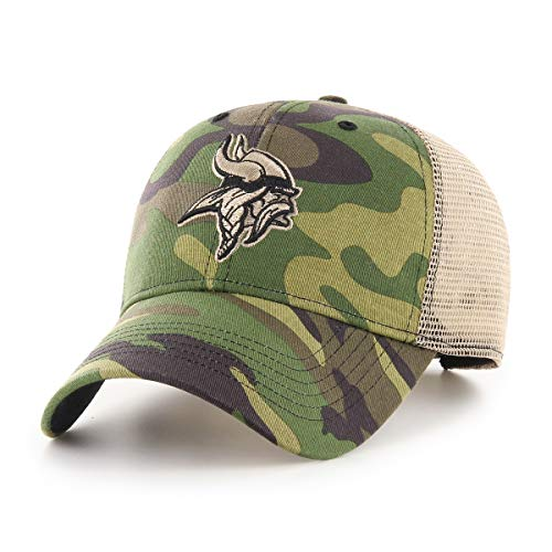 OTS NFL Minnesota Vikings Male Nameplate All-Star Adjustable Hat, Camo, One Size