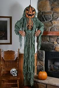 Amazon.com: Scary Pumpkin Skeleton Halloween Porch ...