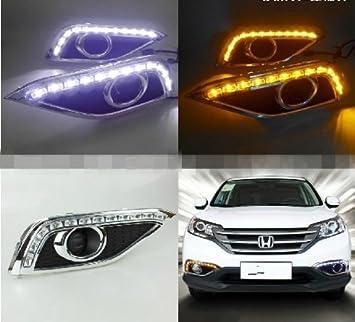 AupTech Honda CRV 2012 2013 LED de conducciš®n diurna Luz de la lš¢mpara del coche de la luz blanca: Amazon.es: Coche y moto