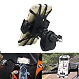 OHLPRO Bike Phone Holder Mount for Motorcycle Bicycle Universal Handlebars, Adjustable Silicone Tape, for iPhone,Samsung Galaxy,Nexus,HTC,LG,All 4.0''-6.0'' Phones,Black