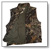 Mossy Oak Windproof Fleece Vest, Mens Mossy Oak Break Up Camouflage Hunting Vest 2XL