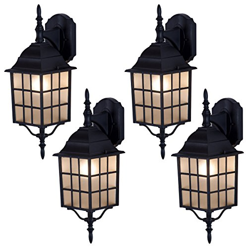 Tangkula Light Fixtures 4 Pack Outdoor Porch Front Door Garage Weatherproof  Exterior Wall Sconces By Tangkula
