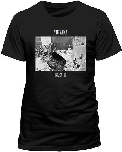 Amazon Xxl Black Nirvana Bleach T Shirt Clothing
