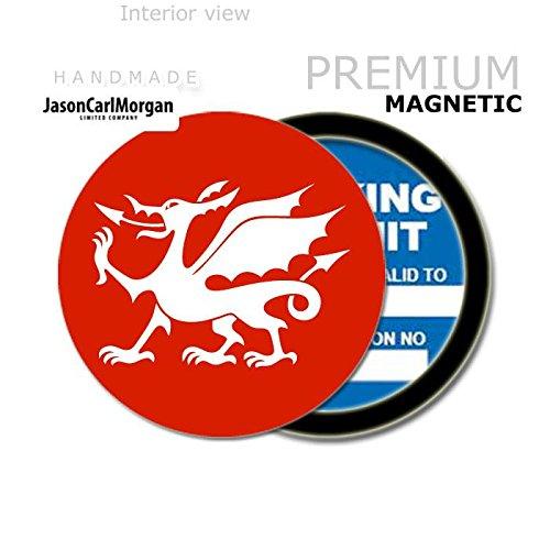 JCM Welsh Dragon MOT License Tax Disc Permit Holders, Red JasonCarlMorgan