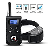 Winmoom Dog Training Collar - Rechargeable Dog Shock Collar w/3 Training Modes, Beep, Vibration and Shock, 100% Waterproof Training Collar, Up to 1650Ft Remote Range, 0~99 Shock Levels Dog Training Se