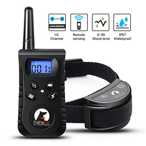 Winmoom Dog Training Collar - Rechargeable Dog Shock Collar w/3 Training Modes, Beep, Vibration and Shock, 100% Waterproof Training Collar, Up to 1650Ft Remote Range, 0~99 Shock Levels Dog Training Se by Winmoom
