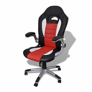 Silla oficina de piel diseño moderno rojo material marco color ...