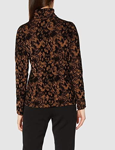 Joe Browns Damska Flocked Animal Roll Neck Top T-Shirt: Odzież