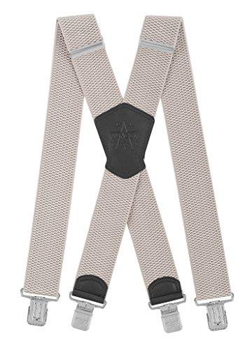 Ranger Hosenträger für Herren X-förmige 5cm breit verstellbar und elastisch mit einem sehr starken Clips