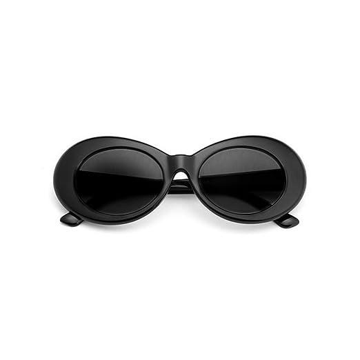 Amazon.com: Bold Retro Oval Mod Thick Frame Sunglasses Clout Goggles ...