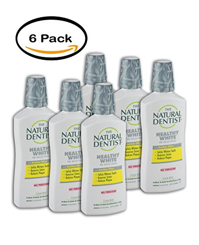 PACK OF 6 - The Natural Dentist Healthy White Pre-Brush Rinse Clean Mint, 16.9 FL OZ by Natural Dentist