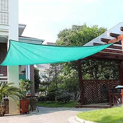 XLCZ 95% Vela de Sombra/protección UV Red de Sombra/toldo Verde/Arandelas de cinturón Rectangular para jardín terraza Cubierta de Invernadero Cubierta de Plantas de Invernadero: Amazon.es: Hogar