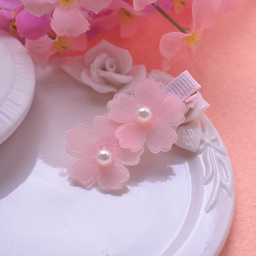 Meng main toy girl hairpin jewelry flower fairies multi-layered petals pearl hairpin side folder for women girl lady