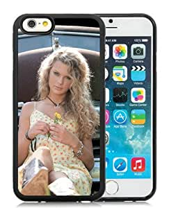 Taylor Swift Celebrity Flowers Dress Car Black TPU Case Cover for iPhone 6 (4.7 inch) Grace and Cool Design