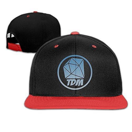 5dad84d62781e Senben The Diamond Minecart DAN TDM Logo Kids Boys Girls Plain Adjustable  Snapback Hats Caps Red