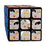 Corgi Junk Food Cute Corgis Fries Pizza Tacos Cute Junk Food Dogs Magic Speed Cubes Sets 3x3x3 Puzzles Toys Solid & Durable (56mm)
