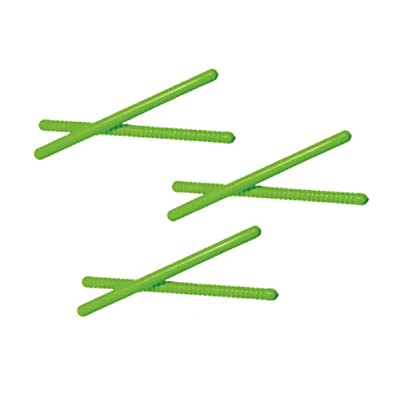 Westco 3 Pairs of 10 inch Rhythm Sticks - Ribbed & Smooth (Green): Toys & Games