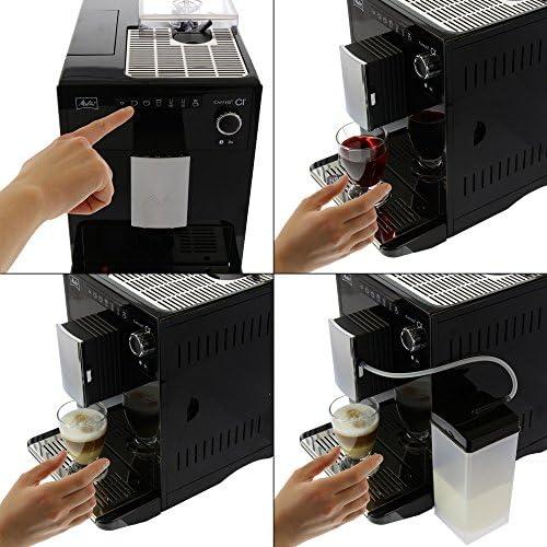 Melitta Caffeo CI, Noir, E970-103, Machine à Café, Expresso et Boissons Chaudes Automatique avec Broyeur à Grains, Fonction My Coffee, Bean Select, Réservoir à Lait Inclus