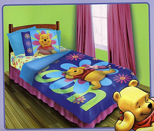 Crib Pooh Set Bedding - Winnie the Pooh - Sunshine - BED IN A BAG Set - Twin/Single Size
